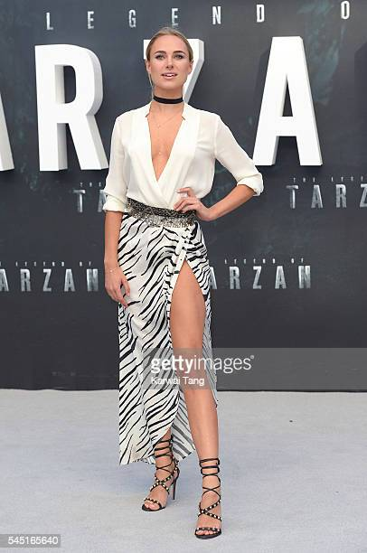 Kimberley Garner attends the European premiere of 'The Legend Of Tarzan' at Odeon Leicester Square on July 5 2016 in London England