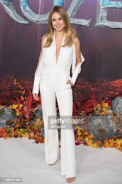 Kimberley Garner attends the Frozen 2 European premiere at BFI Southbank on November 17 2019 in London England