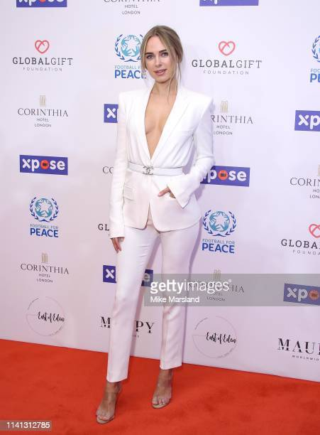 Kimberley Garner attends the Global Gift Initiative Dinner at Corinthia Hotel London on April 08 2019 in London England