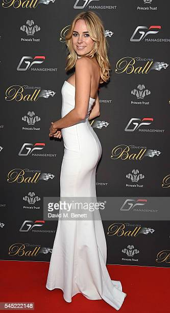 Kimberley Garner attends The Grand Prix Ball prior to the British Grand Prix 2016 at The Hurlingham Club on July 6 2016 in London England