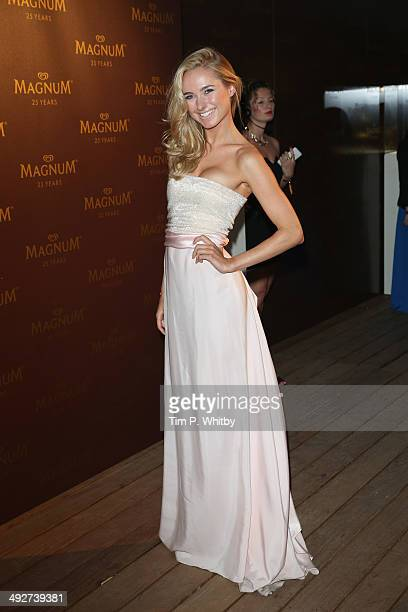 Kimberley Garner attends the Magnum 25th Anniversary party during the 67th Annual Cannes Film Festival on May 21 2014 in Cannes France