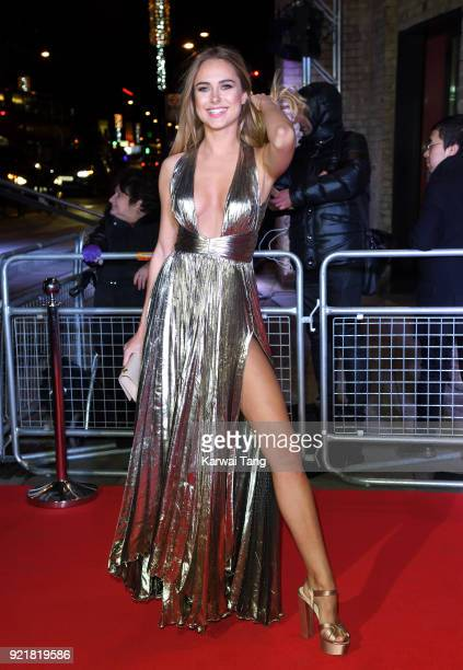 Kimberley Garner attends the Naked Heart Foundation's Fabulous Fund Fair during London Fashion Week February 2018 at the Roundhouse on February 20...