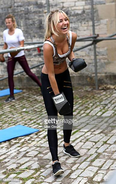 Kimberley Garner attends the PopUp Fitness Retreat By Olivia Cooney at Ston Easton Park on August 9 2015 in London England