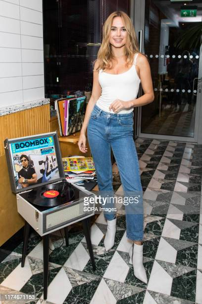 Kimberley Garner attends the press launch for Shakedown Coffee at the Dixon Hotel in London