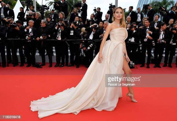 Kimberley Garner attends the screening of A Hidden Life during the 72nd annual Cannes Film Festival on May 19 2019 in Cannes France