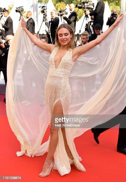 "Kimberley Garner attends the screening of ""The Traitor"" during the 72nd annual Cannes Film Festival on May 23, 2019 in Cannes, France."