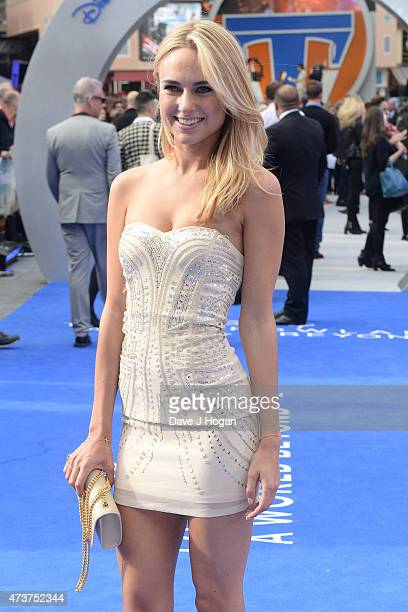 Kimberley Garner attends the Tomorrowland A World Beyond European premiere at Leicester Square on May 17 2015 in London England