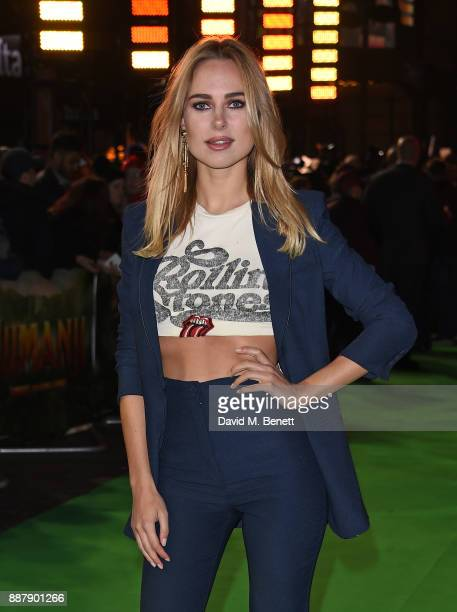 Kimberley Garner attends the UK Premiere of 'Jumanji Welcome To The Jungle' at Vue West End on December 7 2017 in London England