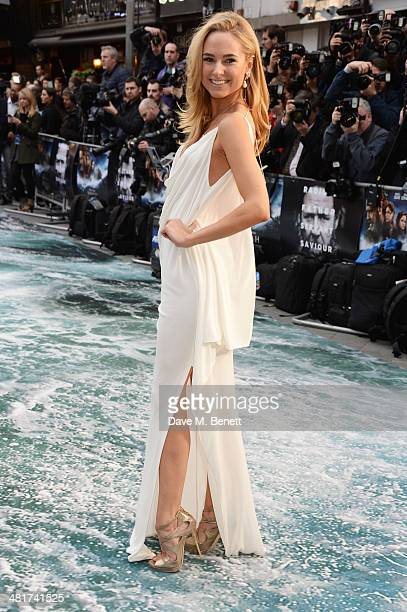 Kimberley Garner attends the UK Premiere of 'Noah' at Odeon Leicester Square on March 31 2014 in London England