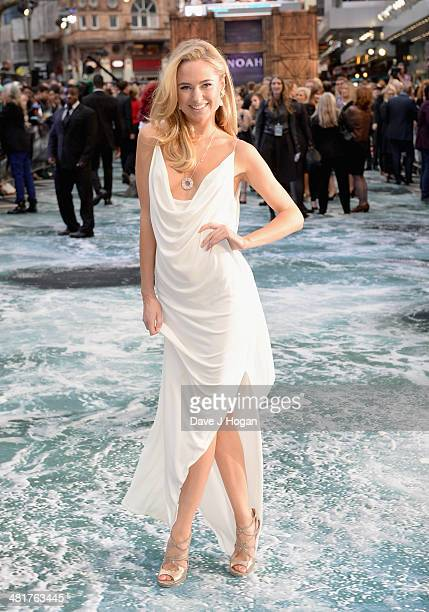 Kimberley Garner attends the UK Premiere of 'Noah' at the Odeon Leicester Square on March 31 2014 in London England