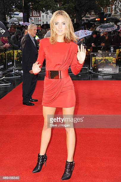 Kimberley Garner attends the UK Premiere of 'Sicario' at Empire Leicester Square on September 21 2015 in London England