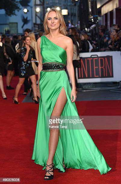 Kimberley Garner attends the UK Premiere of The Intern at Vue West End on September 27 2015 in London England