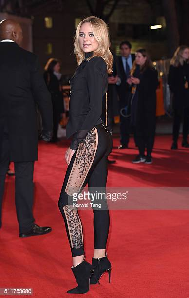 Kimberley Garner attends the World premiere of 'Grimsby' at Odeon Leicester Square on February 22 2016 in London England