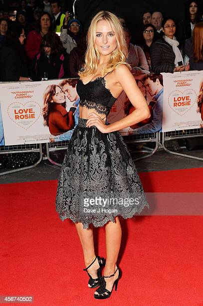 Kimberley Garner attends the World Premiere of 'Love Rosie' at Odeon West End on October 6 2014 in London England
