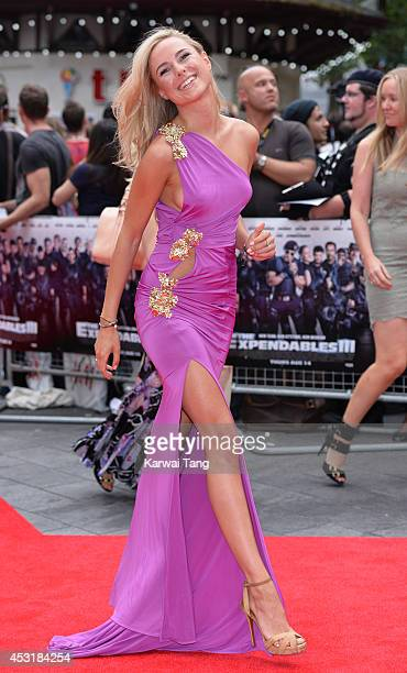 Kimberley Garner attends the World Premiere of 'The Expendables 3' at Odeon Leicester Square on August 4 2014 in London England
