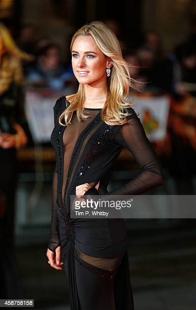 Kimberley Garner attends the World Premiere of The Hunger Games Mockingjay Part 1 at Odeon Leicester Square on November 10 2014 in London England