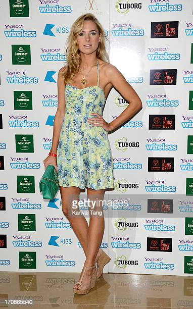 Kimberley Garner attends the Yahoo Wireless preparty at The Mayfair Hotel on June 19 2013 in London England