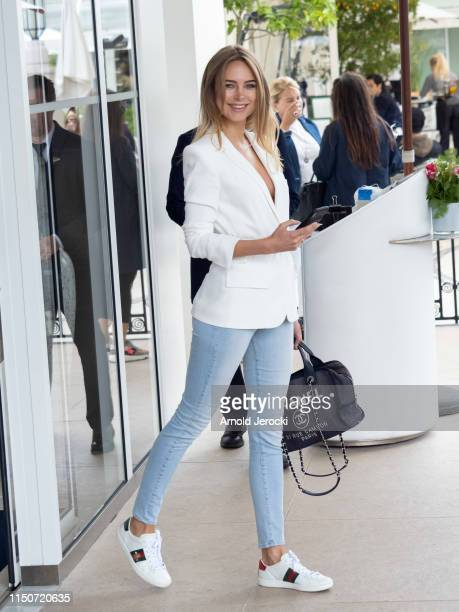 Kimberley Garner is seen at the Martinez hotel during the 72nd annual Cannes Film Festival on May 21 2019 in Cannes France