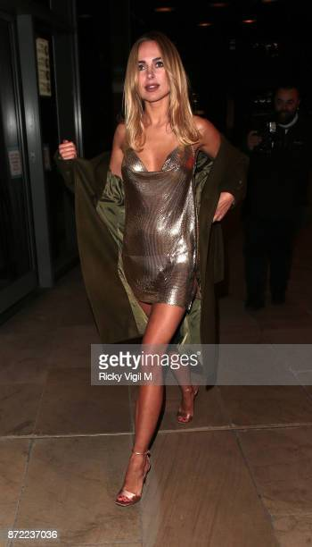 Kimberley Garner seen arriving at The White Forest at Madison launch party on November 9 2017 in London England