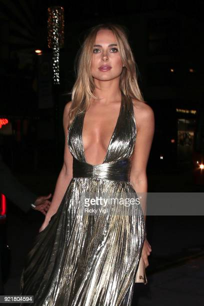 Kimberley Garner seen attending the London Fabulous Fund Fair at Roundhouse during LFW February 2018 on February 20 2018 in London England