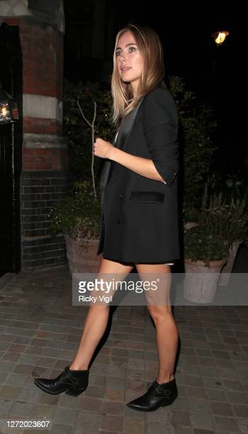 Kimberley Garner seen on a night out at Chiltern Firehouse on September 11 2020 in London England