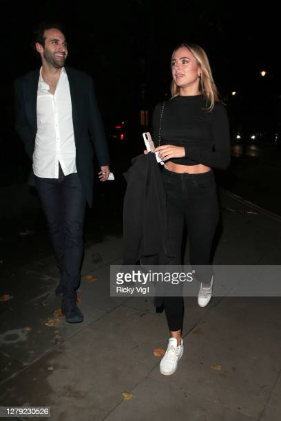 Kimberley Garner seen on a night out at The Connaught Hotel on October 08 2020 in London England