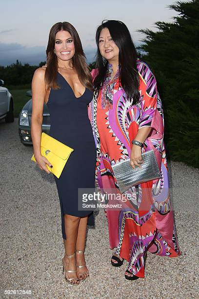 Kimberley Guilfoyle and Susan Shin attend the 2016 Michael Bolton Charities Fundraiser An Evening Under the Stars at a Private Estate on August 20...