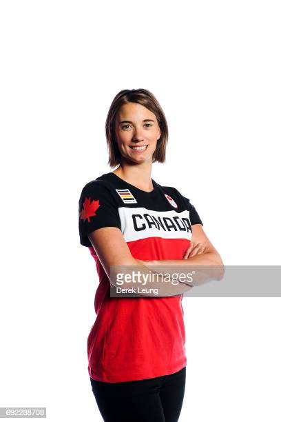 Kimberley McRae poses for a portrait during the Canadian Olympic Committee Portrait Shoot on June 4 2017 in Calgary Alberta Canada