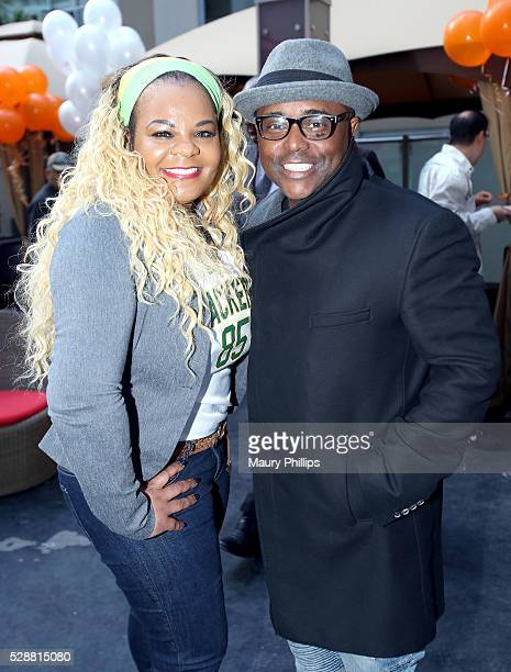 Kimberley T Zulkowski and actor Alex Thomas attend a Press Preview for Grandma's House at House of Macau on May 6 2016 in Los Angeles California