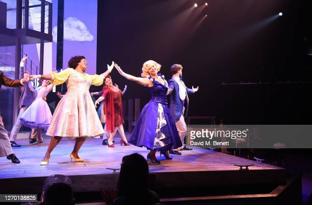 """Kimberley Walsh and cast attend the press night performance of """"Sleepless: The Musical"""" at the Troubadour Wembley Park Theatre on September 01, 2020..."""