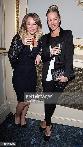 Kimberley Walsh and Denise Van Outen attend the after party following the press night for Relatively Speaking at Wyndhams Theatre on May 20 2013 in...