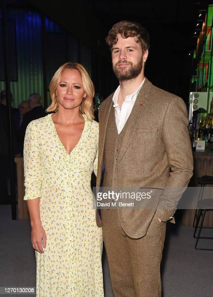 """Kimberley Walsh and Jay McGuiness attend the press night performance of """"Sleepless: The Musical"""" at the Troubadour Wembley Park Theatre on September..."""