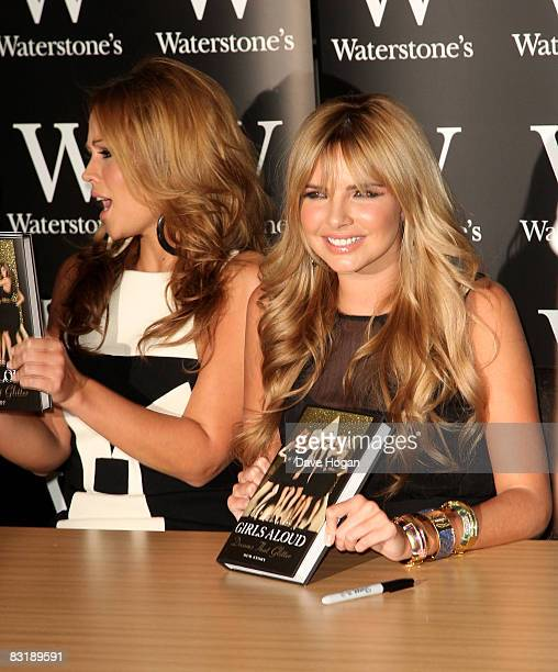 Kimberley Walsh and Nadine Coyle of Girls Aloud attend a book signing for their new autobiography 'Girls Aloud Dreams That Glitter Our Story' at...