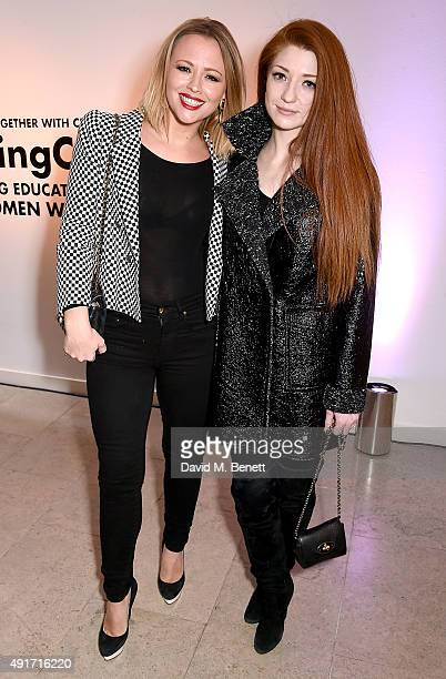 Kimberley Walsh and Nicola Roberts attend the Special K Bring Colour Back launch at The Hospital Club on October 7 2015 in London England
