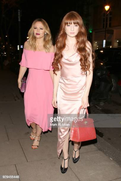 Kimberley Walsh and Nicola Roberts attending the Bardou Foundation International Women's Day celebration at the Hospital Club on March 8 2018 in...