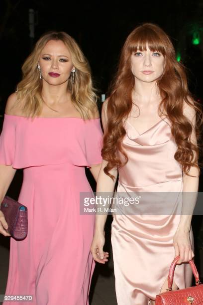 Kimberley Walsh and Nicola Roberts attending the Bardou Foundation International Women's Day celebration at the Hospital Club on March 8, 2018 in...