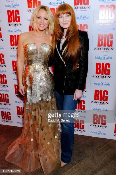 Kimberley Walsh and Nicola Roberts attending the press night after party of Big The Musical at The Dominion Theatre on September 17 2019 in London...