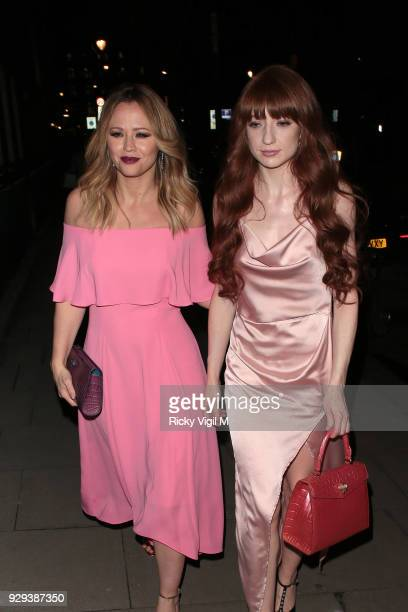 Kimberley Walsh and Nicola Roberts seen attending The Bardou Foundation: International Women's Day Gala at The Hospital Club on March 8, 2018 in...