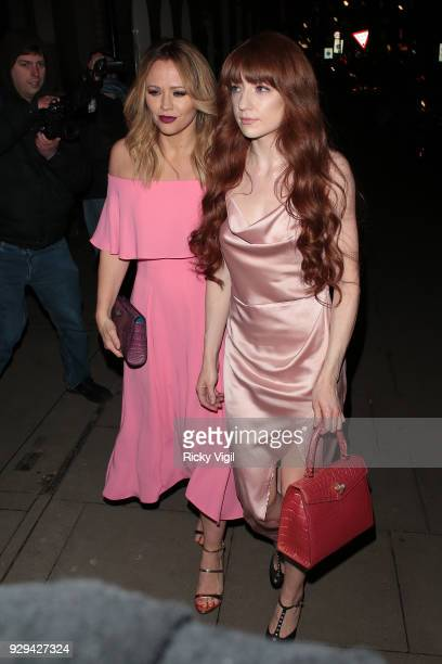 Kimberley Walsh and Nicola Roberts seen attending The Bardou Foundation International Women's Day Gala at The Hospital Club on March 8 2018 in London...
