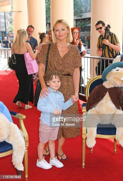 Kimberley Walsh and son Bobby Scott attend the press day performance of Where Is Peter Rabbit at the Theatre Royal Haymarket on July 23 2019 in...
