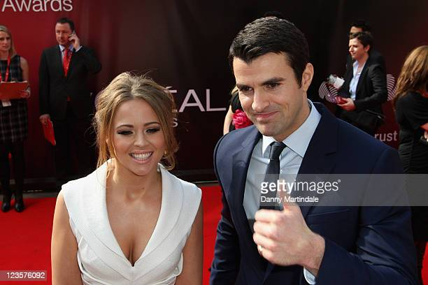 Kimberley Walsh and Steve Jones attends UK finals of 'Celebrate Success' at Odeon Leicester Square on March 23, 2011 in London, England.