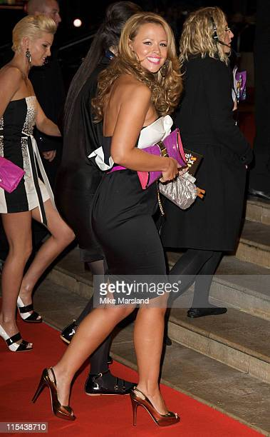 Kimberley Walsh arrives at the The Brit Awards 2008 held at Earls Court on February 20 2008 in London England