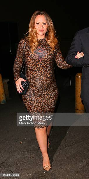 Kimberley Walsh at Gilgamesh restaurant and club to celebrate Denise van Outens birthday on May 31 2014 in London England