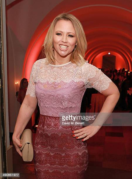 Kimberley Walsh attends a fundraising event in aid of the Nepal Youth Foundation hosted by David Walliams at Banqueting House on October 1 2015 in...