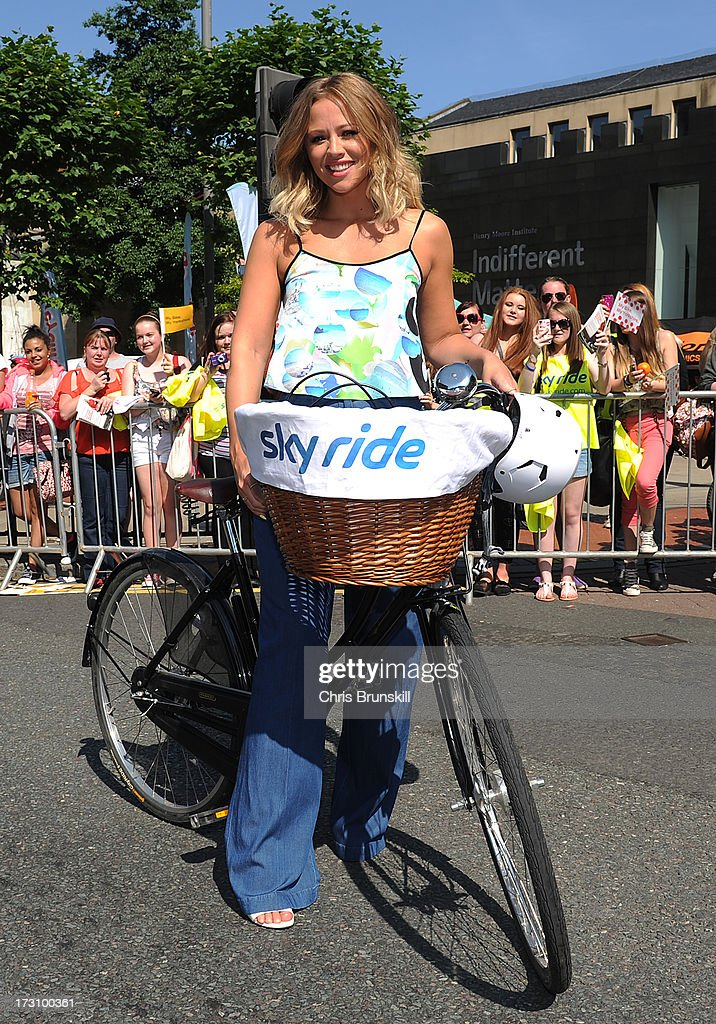 Kimberley Walsh attends Sky Ride in Leeds - a free, fun, family cycling event from Sky and British Cycling held in partnership with Leeds City Council, offering people of all ages and abilities the chance to cycle around a traffic-free city on July 7, 2013 in Leeds, England. The ride celebrated the fact that the Tour de France will start in Leeds in 2014. Find a free organised bike ride near you and see how you can get involved at www.goskyride.com - there's something for everyone.