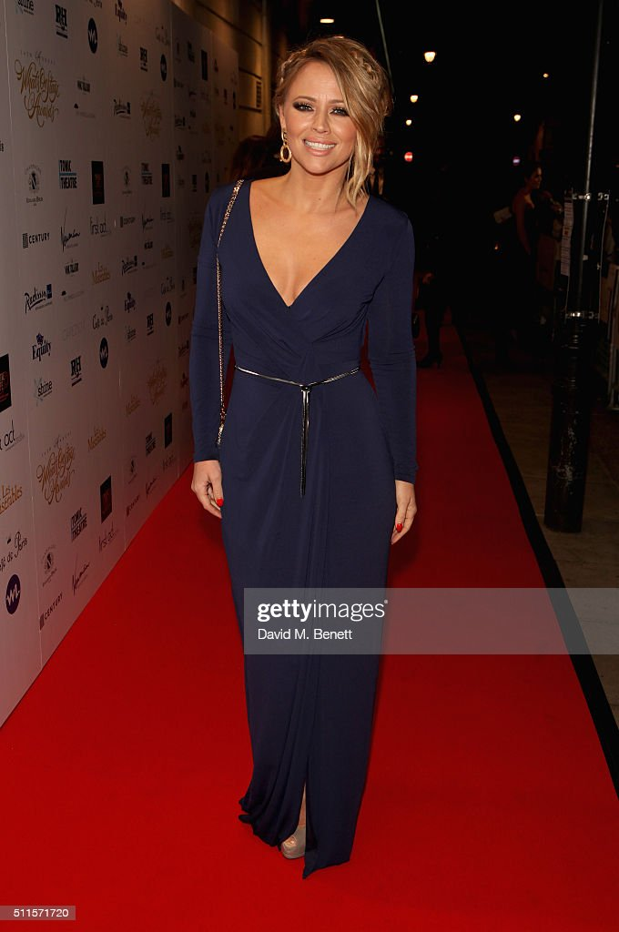 Kimberley Walsh attends the 16th Annual WhatsOnStage Awards at The Prince of Wales Theatre on February 21, 2016 in London, England.