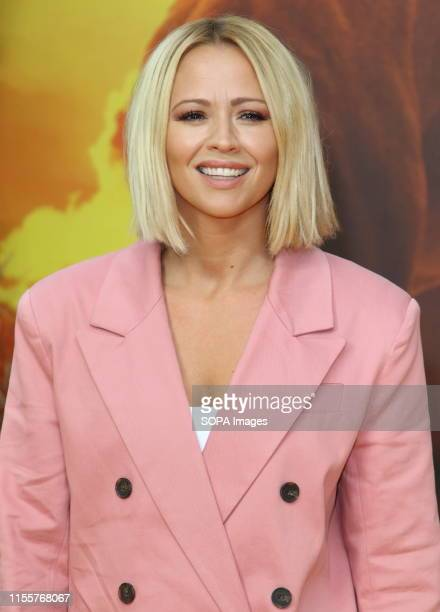 Kimberley Walsh attends the European Premiere of Disney's The Lion King at the Odeon Luxe cinema Leicester Square in London