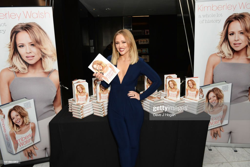 Kimberley Walsh attends the launch party for her new book 'A Whole Lot Of History' at Hotel ME on September 23, 2013 in London, England.