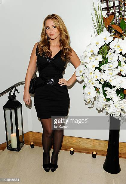 Kimberley Walsh attends the launch party for 'Promise' a new capsule ring collection created by Cheryl Cole and de Grisogono at Nobu London on...
