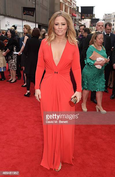 Kimberley Walsh attends The Olivier Awards at The Royal Opera House on April 12 2015 in London England